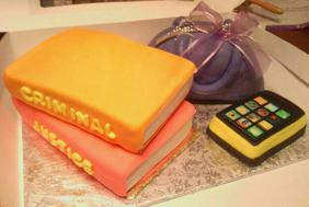 Sweet Elegance Cakes-By Tracie Criminal Justice Book Cake